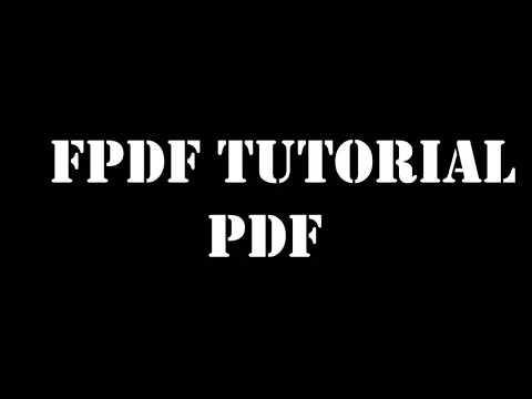 Example 8 - generate report pdf with fpdf using php