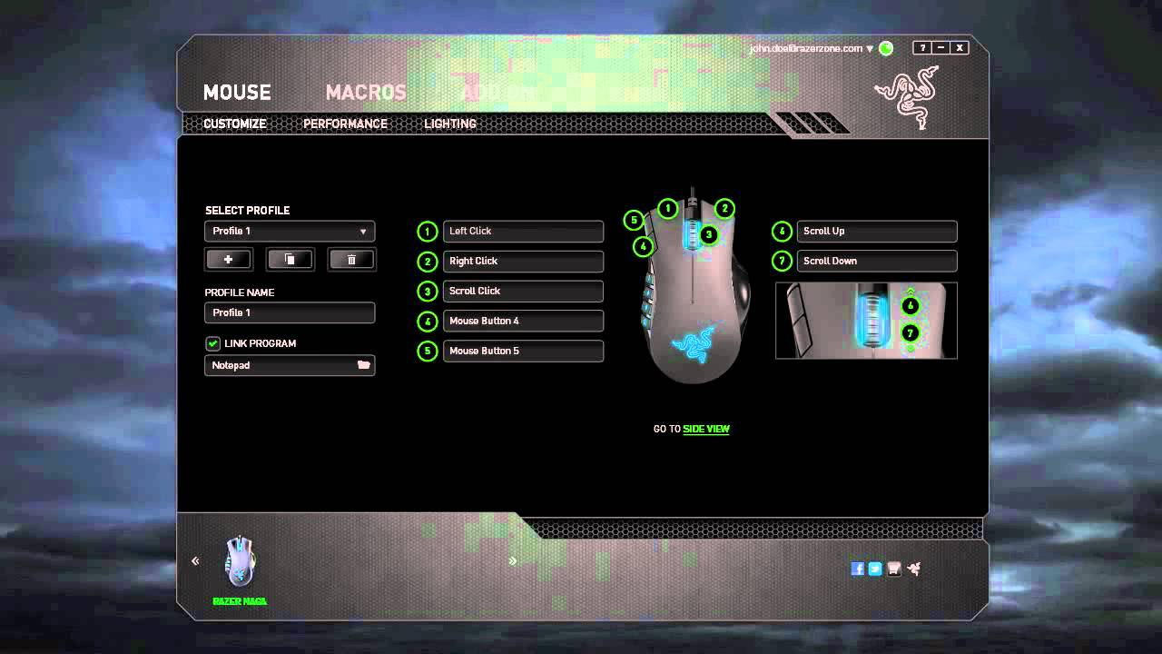Razer Naga Hex Mouse Synapse 2.0 Drivers Windows