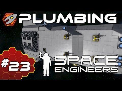Space Engineers: Hardcore - Plumbing - Episode 23