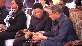 Waziri mkuu Majaliwa, JK walivyoshiriki kuaga mwili wa mzee Pinda Dodoma