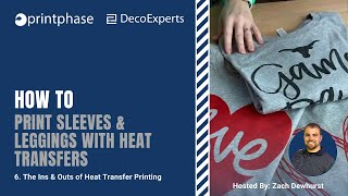 How to Print Sleeves & Leggings with Heat Transfers