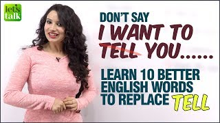 Learn Smart English Words To Improve Your English & Speak Fluently - 10 Words To Replace