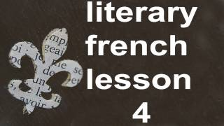 M0004  French Lesson 4 Level 1  Serial and Oral French Course for Beginners