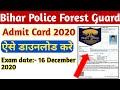 Gambar cover Bihar Police Forest Guard Admit Card Download kaise kare   Bihar Police Forest Guard Admit Card 2020