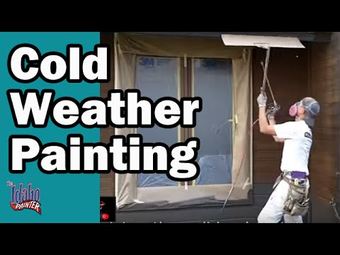 Cold weather painting tips how to paint when it freezing outside youtube for Exterior house painting in cold weather
