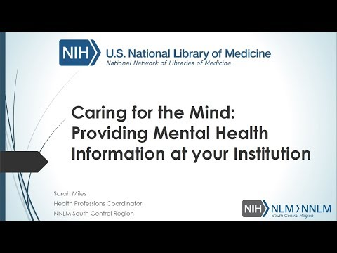 SCR Teaching Webinar - Mental Health Information Resources (January 25, 2018)