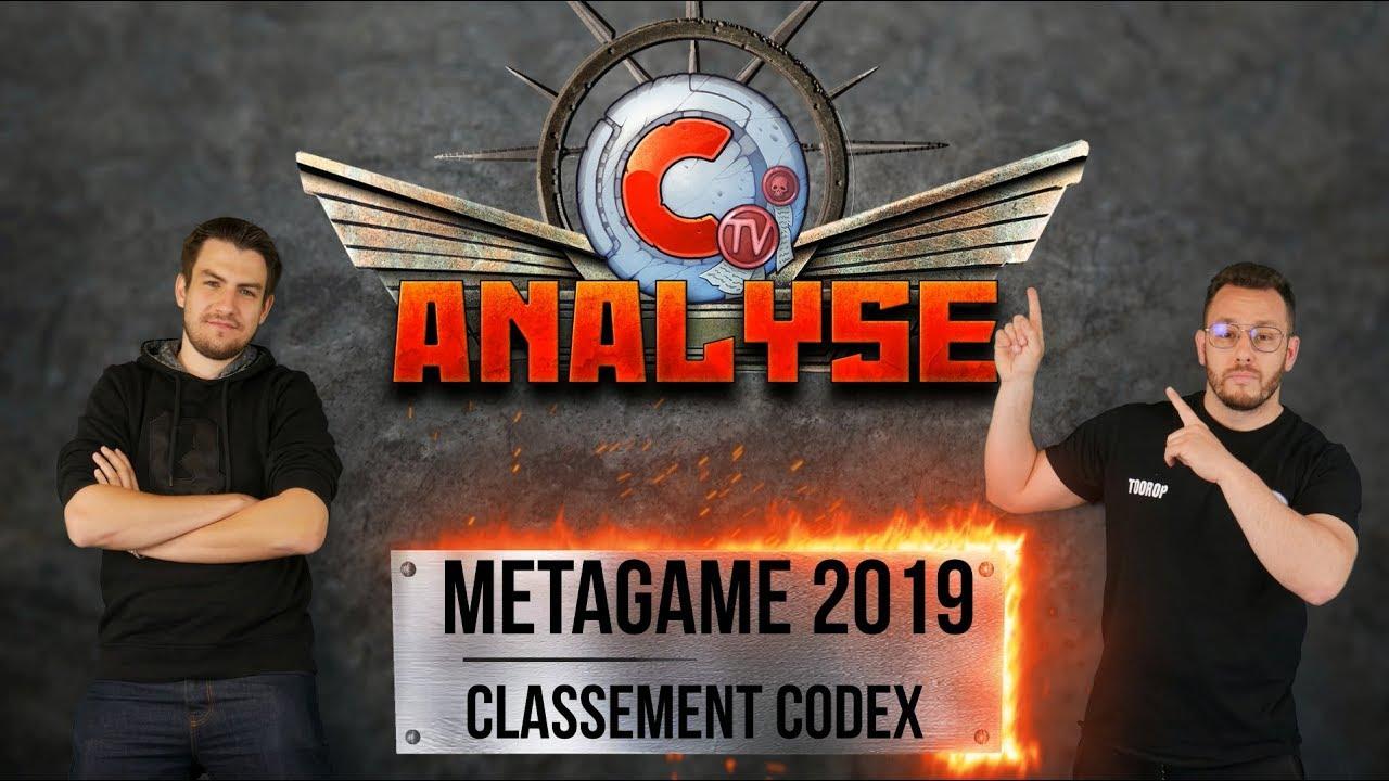 Commandeur TV - METAGAME Warhammer 40K 2019 & classement des codex - listes  ETC dans la description-