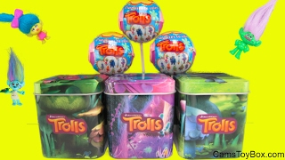 Dreamworks Trolls Chupa Chups Lollipops Blind Bags Series 1 Tins Opening Surprise Toys Kids Playing