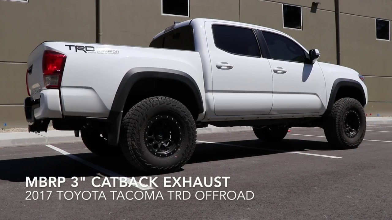 2016 2020 Toyota Tacoma Mbrp Catback Exhaust Versus Stock Exhaust Part 1 Youtube