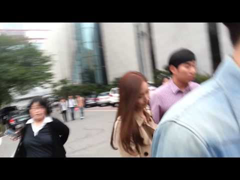 140926 Fancam yoona after tts record