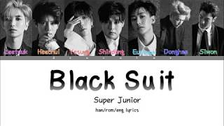 SUPER JUNIOR 슈퍼주니어 BLACK SUIT Lyrics Color Coded Han Rom
