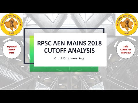 Download RPSC AEN MAINS 2018 EXPECTED CUT OFF || EXPECTED RESULT DATE || 100 % SAFE ||