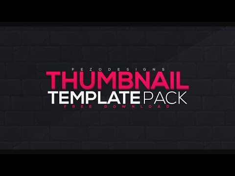 Thumbnail Template Pack - 5 Templates - Free Download