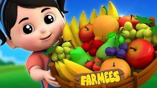 Fruits Song | Nursery Rhymes & Kids Songs | Kindergarten Cartoons For Children