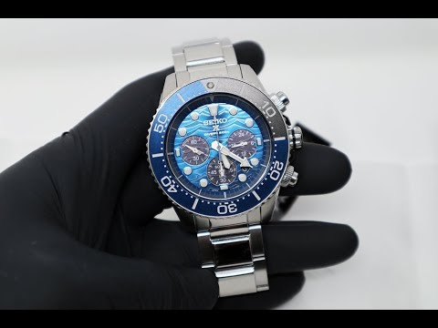 """UNBOXING 2019 SEIKO PROSPEX """"SAVE THE OCEAN"""" GREAT WHITE SHARK EDITION CHRONOGRAPH SSC741K"""