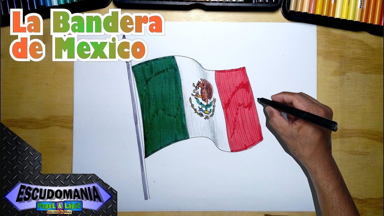 Cómo Dibujar Fácil La Bandera Nacional De México Youtube