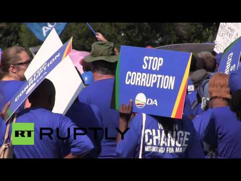 South Africa: Thousands march against Zuma in Johannesburg