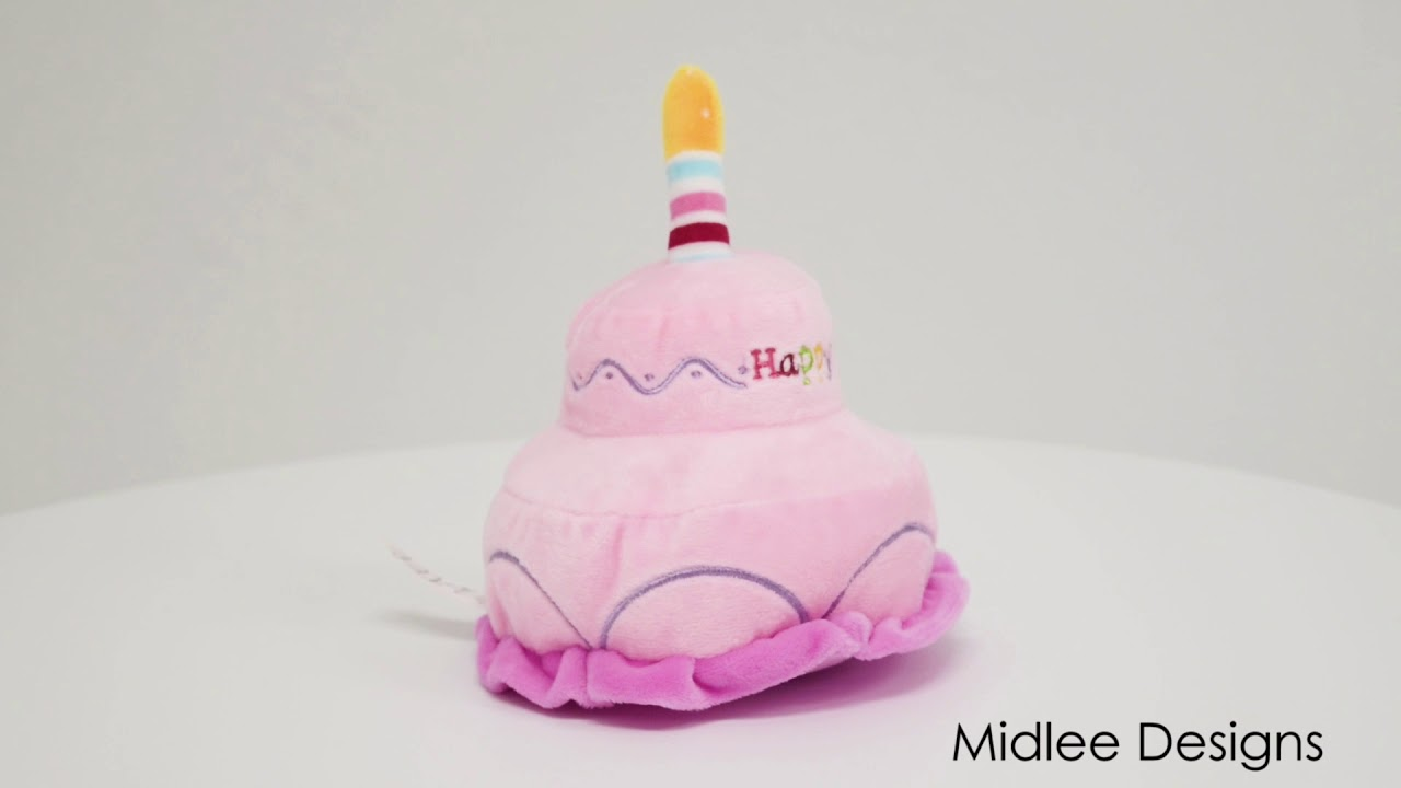 2 Layer Birthday Cake Dog Toy By Midlee Youtube
