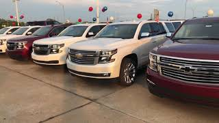 2018 Chevrolet Tahoe's for Tim at Jim Glover Chevrolet on the river.