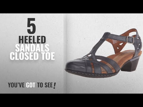 Top 5 Heeled Sandals Closed Toe [2018]: Cobb Hill Rockport Women's Aubrey-CH Heeled Sandal, Navy,