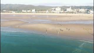 태안 만리포해안 해질녘 해변풍경