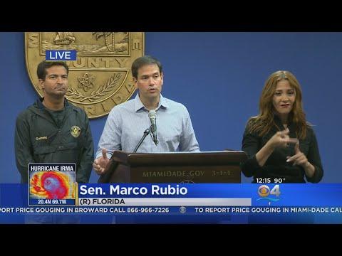 Senator Marco Rubio Discusses Hurricane Irma Prep For Miami-Dade County