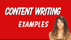 Content Writing Examples
