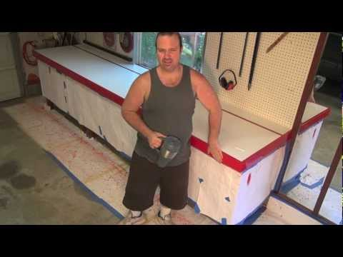 DIY RustOleum Polish & Wax Paint to Mirror like Finish Wooden Edge Band Part 2