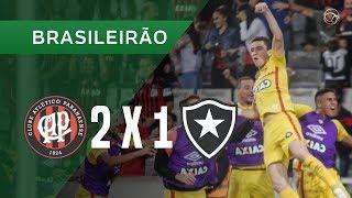 ATLÉTICO-PR 2 X 1 BOTAFOGO - GOLS - 27/10 - BRASILEIRÃO 2018
