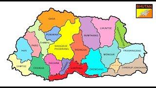 Map of Bhutan. Bhutan map