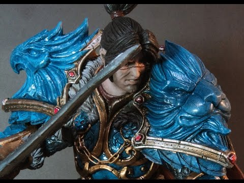 Sculpting Varian Wrynn Statue by Mankej