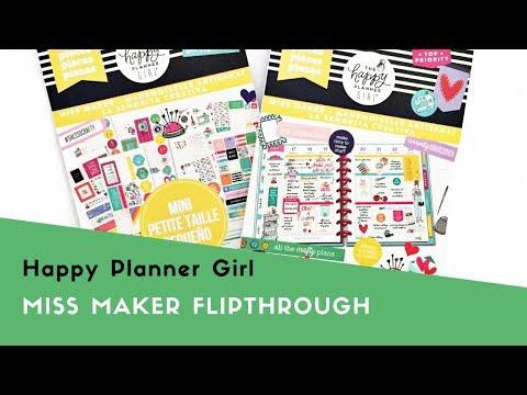 Happy Planner Girl™ Miss Maker Sticker Flipthrough