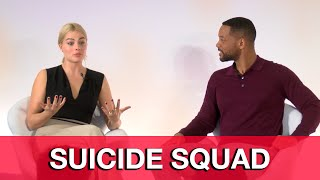 Will Smith & Margot Robbie talk Suicide Squad Deadshot & Harley Quinn