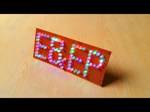How To Make Multicolor LED Name Signs || DIY LED Text Board.