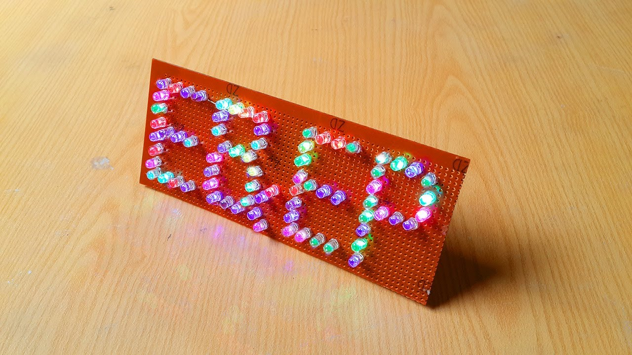 How To Make Multicolor LED Name Signs || DIY LED Text Board. - YouTubeYouTube