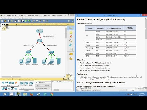 7.2.4.9 Packet Tracer - Configuring IPv6 Addressing