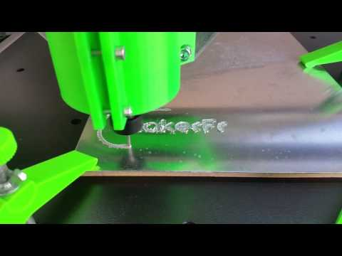 First test aluminium milling with the R-CNC, DIY printable cnc milling machine