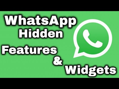 WhatsApp Widgets And Hidden Features (Android)