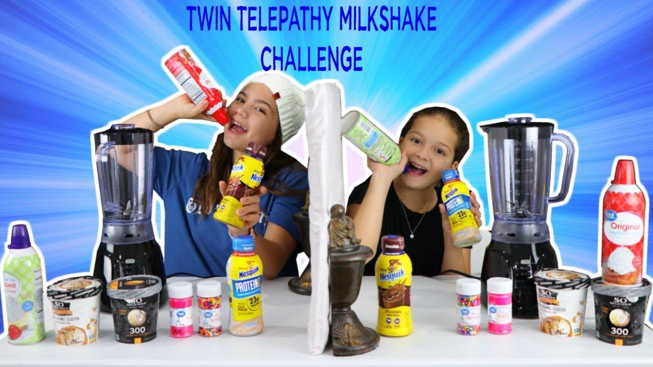 twin-telepathy-milkshake-challenge-sister-forever
