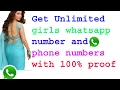 How to Get new Whatsapp Girls Number, Mobile Numbers