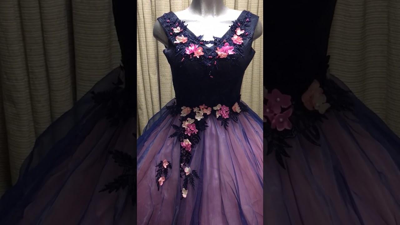 Vestido Xv Anos Con Flores 3d Youtube