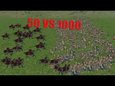 mount and blade warband- Swadian Knight 50 VS 1000 Farmers