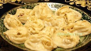 Steamed Dumplings - Uzbek Manti with Meat & Potato Recipe