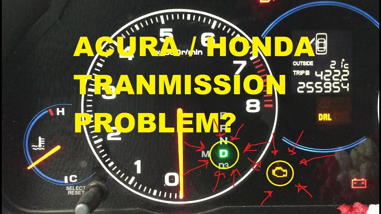 Acura Honda Transmission Problem Blinking D Check Here Youtube 2002 Tl Turn Signal Relay Location