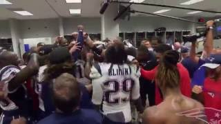 Patriots Locker Room After Beating Cardinals