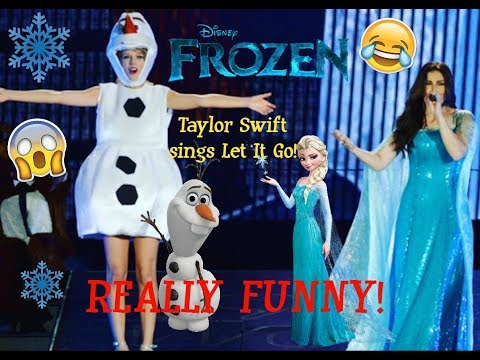 Taylor Swift sings LET IT GO with Idina Menzel FROZEN