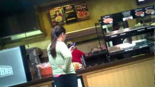 LSU crazy customer girl freaks out over pizza