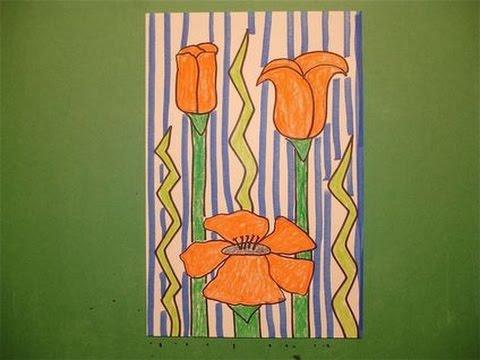 Lets Draw A California Poppy
