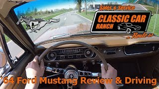 1964 1/2 Ford Mustang D-Code 4.7l V8 | COLD START & ACCELERATION | GoPro | Classic Car Ranch