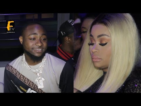 AMERICAN MODEL BLAC CHYNA AND DAVIDO MEET @ REMY MARTIN PARTY